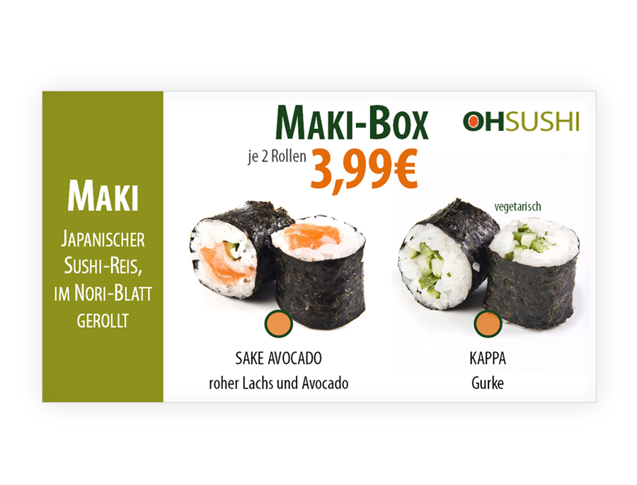 powerpoint template für sushi-bar